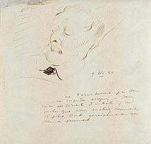 Friesz, Othon, Maler (1879-1949). Eigenh. Zeichnung seines Vaters auf dem T