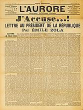 DREYFUS-AFFÄRE - Zola, Emile. J'Accuse...! Lettre au Président de la Républ