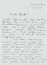 Wittgenstein, Ludwig, Philosoph (1889-1951). Eigenh. Brief mit Unterschrift