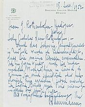 Ammann, Othmar, Ingenieur u. Brückenbauer (1879-1965). Eigenh. Brief m. Unt
