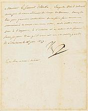 NAPOLEONICA - Napoléon I., Kaiser der Franzosen (1769-1821). Brief mit eige