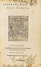 Bèze, Theodor de. Poemata. Mit gest. Titelvign. u. gest. Portrait. Paris, C