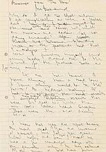 Barnard, Christian, Chirurg (1822-2001). Eigenh. Manuskript (Fragment) mit