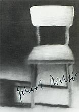 Richter, Gerhard, Maler (geb. 1932). Eigenh. Namenszug auf Kunstpostkarte '