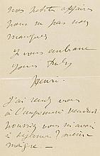 Toulouse-Lautrec, Henri de, Maler u. Graphiker (1864-1901). Eigenh. Brief m
