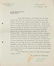 Bohr, Niels, Physiker (1885-1962). Maschinenschr. Brief mit eigenh. Untersc