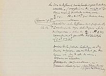 Becquerel, Antoine-Henri, Physiker (1852-1908). Eigenhändiges Manuskript (F