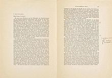Heidegger, Martin, Philosoph (1889-1976). Dreizeilige Randnotiz sowie eine