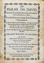 Biblia raetoromanica - Jls Psalms Da David, suainter la melodia francêsa, s