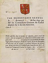 URKUNDEN - Hozier, Charles de (1640-1732). Wappenbrief für Beat Albert Igna