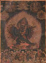 A FINE BLACK GROUND TANKA OF VAJRABHAIRAVA