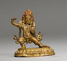 CANDA VAJRAPANI.Nepal, 18th c. H 10 cm.Bronze with