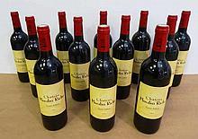 12 bts Bordeaux Saint-Julien Château Moulin Riche Second vin 0.75L 1998