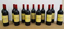 12 bts Bordeaux Saint-Julien Moulin Riche Second Vin 0.75L 1998