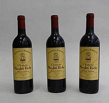 3 bts Bordeaux Saint-Julien Moulin Riche Second Vin 0.75L 1985