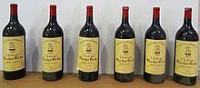 6 mgs Bordeaux Saint-Julien Moulin Riche Second Vin 1.5L 1985