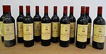 12 bts Bordeaux Saint-Julien Château Moulin Riche Second vin 0.75L 1985