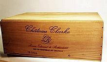 12 bts Bordeaux Médoc Château Clarke 0.75L 1992