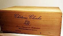 12 bts Bordeaux Médoc Château Clarke 0.75L 1983