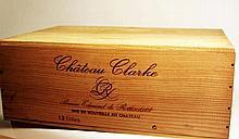 12 bts Bordeaux Médoc Château Clarke 0.75L 1989
