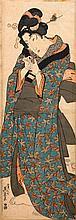 KEISAI EISEN (1790-1848).Two ôban tate-e. Standing