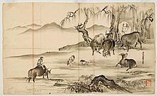 HASEGAWA SETTAN (1778-1843).ca. 1835, 40.6x68.5