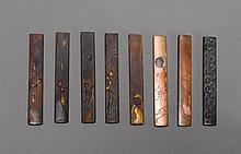 EIGHT KOZUKA.Japan, 18th/19th c. L 9.5-9.8
