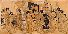 KITAGAWA UTAMARO (1753-1806).Ôban triptych.