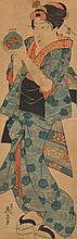 KEISAI EISEN (1790-1848).Two ôban tate-e. A