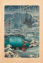 TSUCHIYA KÔITSU (1870-1949).Ôban. Colour woodcut