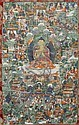 A THANGKA OF SHAKYAMUNI. Tibet/Bhutan, 18th/19th