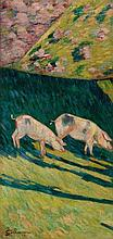 GUILLAUMIN, ARMAND(1841 Paris 1927)Les porcs. ca.