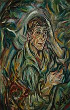 KOKOSCHKA, BOHUSLAV(1892 Vienna 1976)Porträt Prof.