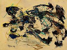 KAREL APPEL1921 - 2006Die Rivalen. 1959.Oil on
