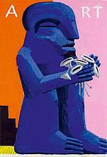 ANTES, HORST1936'ART'. 1978.Acrylic on thin board.