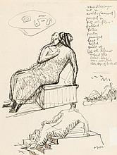 HENRY MOORE1889 - 1986Studies for Seated Figure.