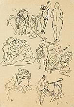LUCIO FONTANA1899 - 1968Studi per sculture.