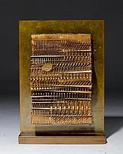 ARNALDO POMODORO1926Foglio V. 1986.Bronze with