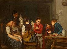 KURZBAUER, EDUARD (Wien 1840 - 1879 München) Sieben Person