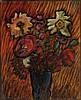 JAWLENSKY, ALEXEJ VON (Toržok 1864 - 1941 Wiesbaden) Astern. 1936. Öl auf Karton. Unten links signiert: A. Jawlensky. Verso signiert, datiert und bezeichnet: SP. ST. N.6. A. Jawlensky 1936. 40,3 x 33,4 cm. Provenienz: - Nachlass des Künstlers. -, Alexei Jawlensky, CHF50,000