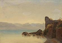 DIDAY, FRANÇOIS(1802 Geneva 1877)Rocky shoreline