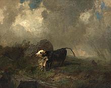 KOLLER, RUDOLF(1828 Zurich 1905)Cows in a