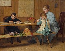 ANKER, ALBERT(1831 Ins 1910)Children doing