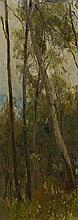 ANKER, ALBERT(1831 Ins 1910)Study of a forest.Oil