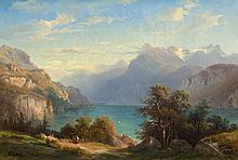 DIDAY, FRANÇOIS(1802 Geneva 1877)View of Lake