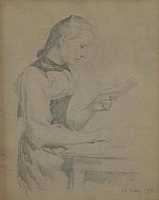 ANKER, ALBERT(1831 Ins 1910)Double-sided drawing: