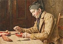 ANKER, ALBERT(1831 Ins 1910)Man eating
