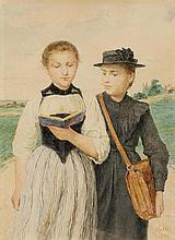 ANKER, ALBERT(1831 Ins 1910)Two young girls.