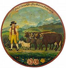 SWISS RUSTIC ART, CIRCA 1843(Switzerland 19th