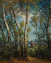 KOLLER, RUDOLF(1828 Zurich 1905)Woman gathering